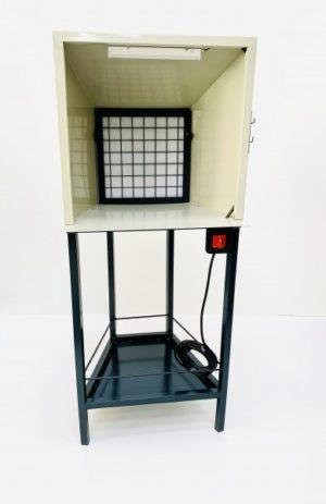 Cabina de tintar con prefiltro incorporado