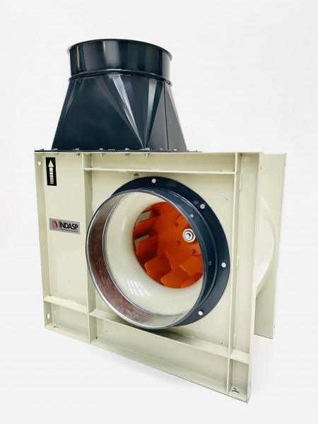 Ventilador centrífugo de media presión y simple aspiración. con motor 5.5 hp.