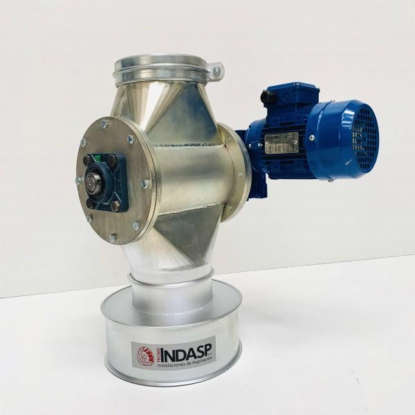 Válvulas rotativas para alimentación de sistemas de transporte en presión o en vacío, descarga de silos o tolvas.