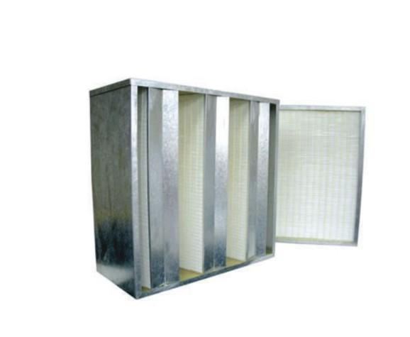 Caja filtrante con serie de filtro en su interior