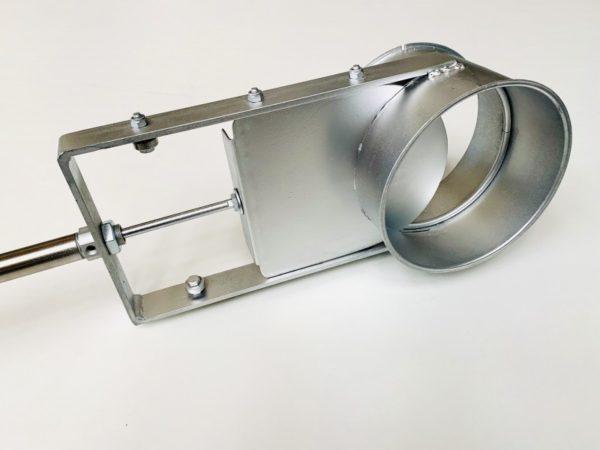 Cierres neumáticos reguladores de caudal, construidos de diferentes diámetros.